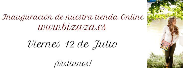 Inauguración de nuestra página web! Viernes 12 de julio! Os esperamos! www.bizaza.es