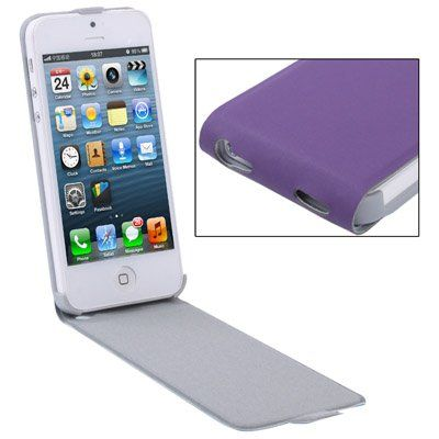Lederen flip case (Purple)