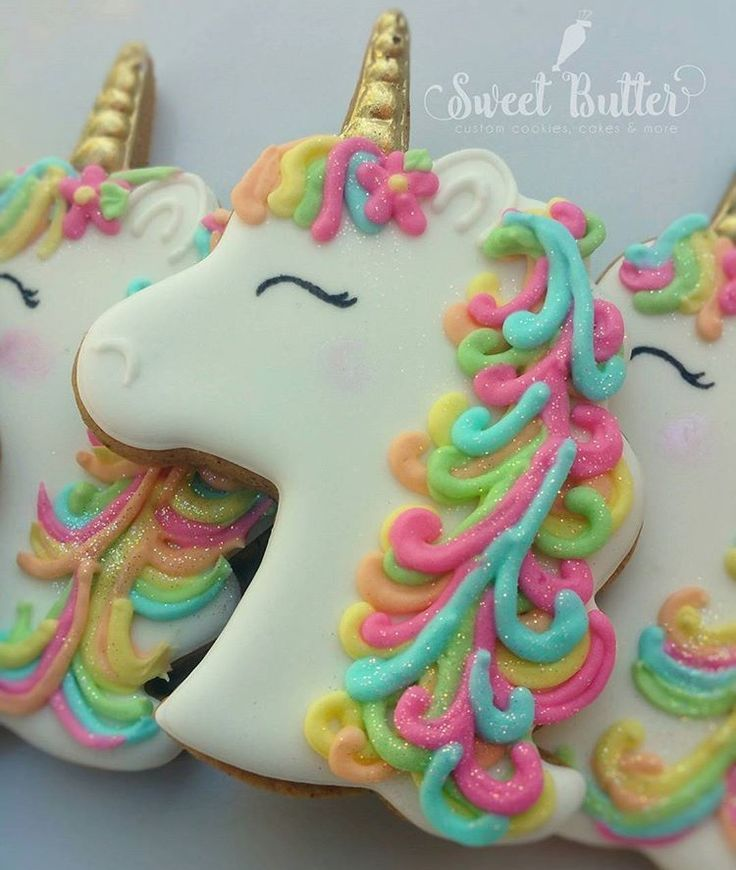Unicorn Cookies from Sweet Butter Cookies #Unicorncookiesdecorated #Party
