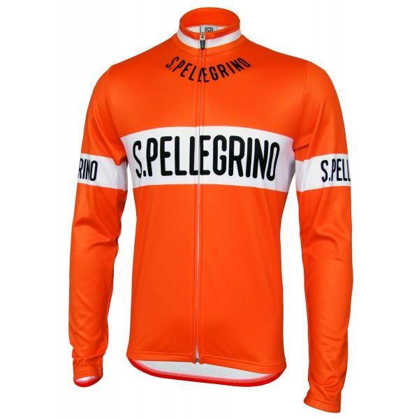 San Pellegrino Retro Jersey - Long Sleeve/Full Zip (75cm)