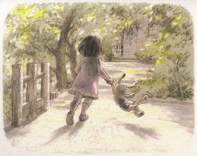 "Chiaki Okada, illustration from the picture book ""Chīsai watashi' "" (""I Am Small"")"