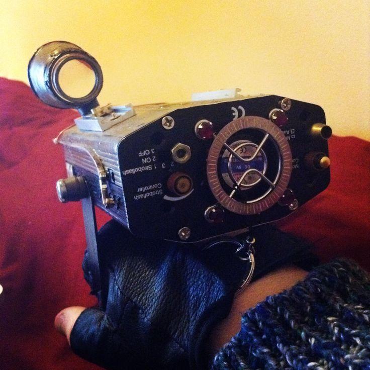 Steampunk laserglove #steampunk