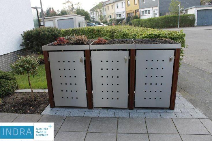 3er Mülltonnenbox Bangkirai Bild 2