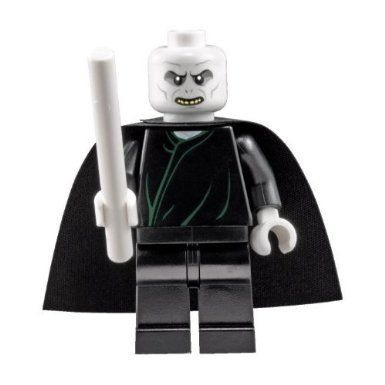 LEGO Harry Potter: Lord Voldemort Minifigure with White Wand: Amazon.co.uk: Toys & Games