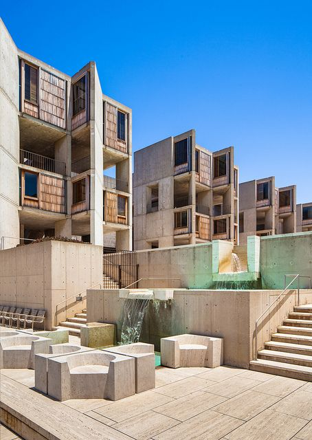 Salk Institute, 1965, La Jolla, California Lou Kahn, architect