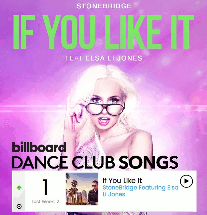 IF YOU LIKE IT Stonebrige feat. Elsa Li Jones #1 billboard Dance Club Song #stonebridge #bojanorama #housemusic https://soundcloud.com/stonebridge/preview-if-you-like-it-bojan-mix