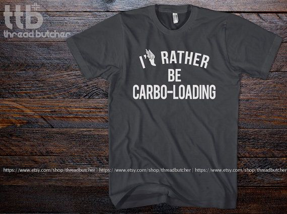 I'd Rather Be Carbo-Loading Marathon Running by threadbutcher