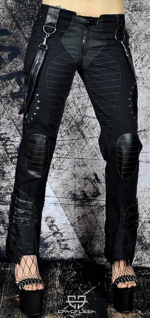 Cryoflesh Rivethead Cyber Goth Industrial Tactical Pant - Pants & Jeans | RebelsMarket