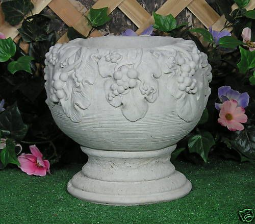 grecian roman grape vase planter urn latex fiberglass. Black Bedroom Furniture Sets. Home Design Ideas