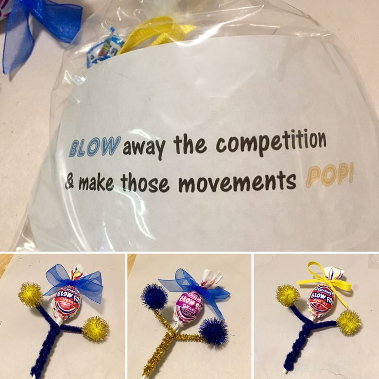Blow Pop cheerleader treats for competition
