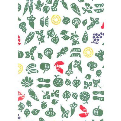 手ぬぐい野菜と果物