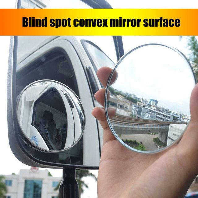Car Safety Convex Mirror Large Truck Rear View Mirror Small Round Mirror Car Reverse Blind Spot Mirror Reflector Large Auxiliary Review Blind Spot Mirrors Convex Mirror Small Round Mirrors