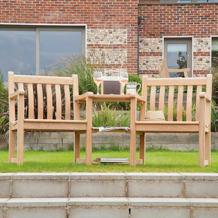 roble companion seat by alexander rose love seatoutdoor seatinggarden furniturewood workingpopular