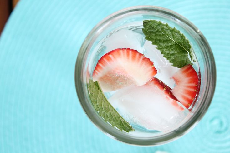 strawberry mint infused water