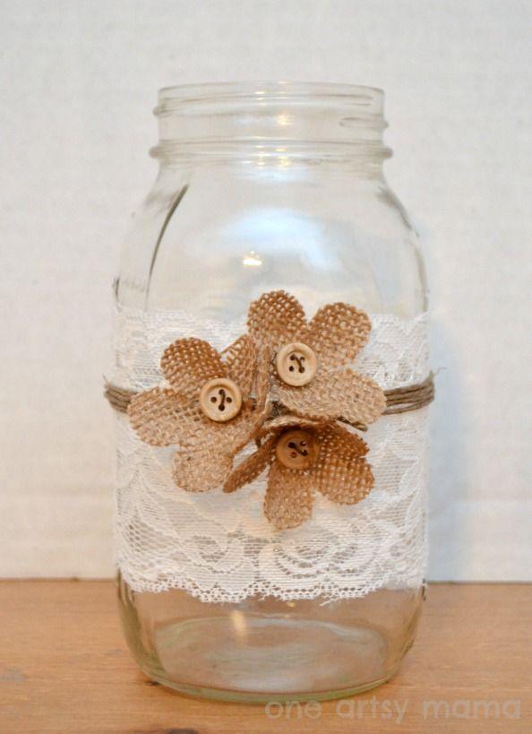 One Artsy Mama - http://www.oneartsymama.com/2013/07/casual-elegance-mason-jar-vase.html