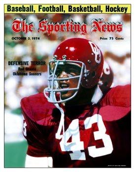 Oklahoma Sooners' Rod Shoate - October 5, 1974