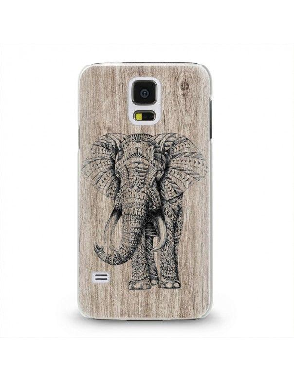 Handyhülle Für Samsung Galaxy S5 Mini ( Elefant ) - hochwertige Schutzhülle im modernen Design.