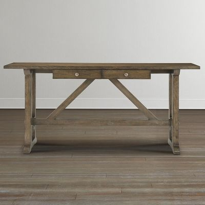 Bassett 6525-0698 Compass Console Table available at Hickory Park Furniture Galleries