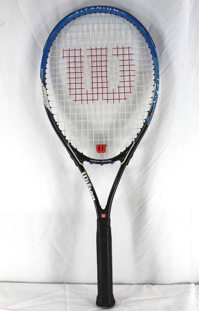 Wilson Impact Titanium Volcanic Frame Tennis Racquet Grip Size 4 3 8 L3 Wilson Racquets Tennis Tennis Racquet