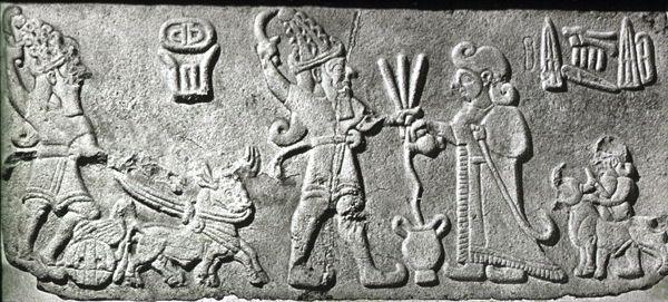 Malatya- Arslantepe frieze block with PUGNUS-Mili and storm god