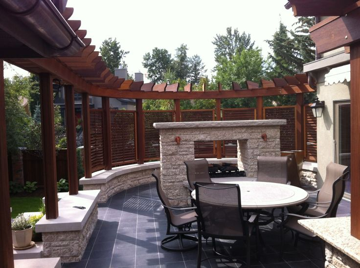 What a stunning and relaxing spot in a back yard in the city of Calgary with Hardwood supplied by Kayu Canada Inc.