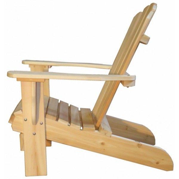 fauteuil adirondack sans repose-pieds fauteuil fixe bois cedre blanc