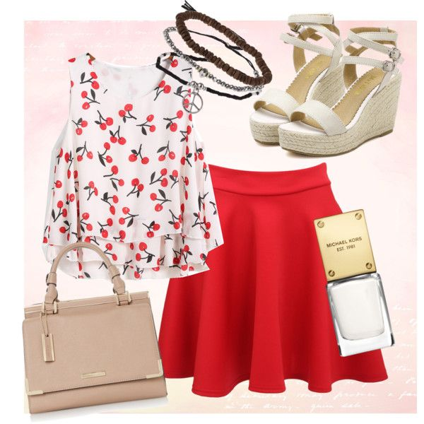 love the cherry! by ilmadhinautari on Polyvore featuring polyvore fashion style Topshop