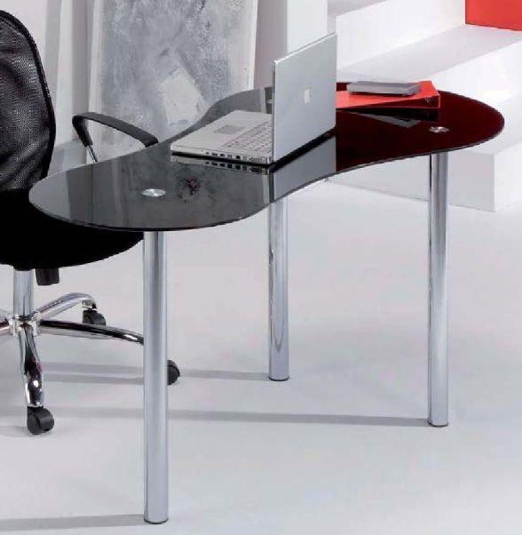 Modelo sat mesa de estudio con tapa de cristal curvo - Conteras de plastico ...