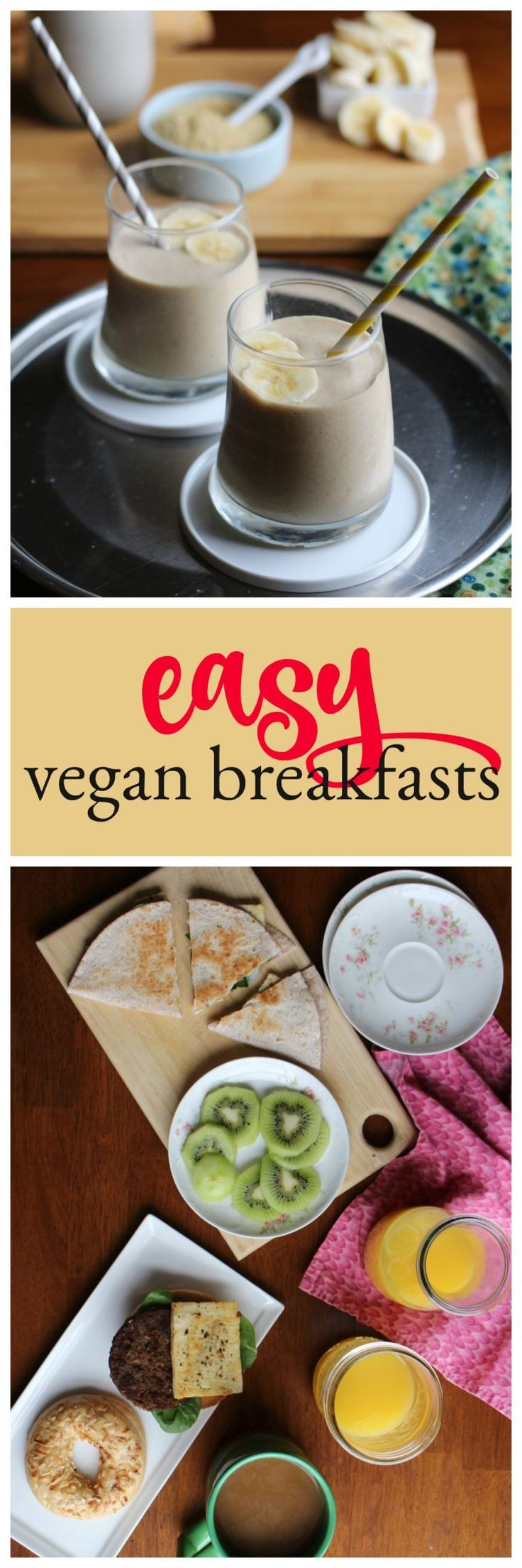 Being vegan doesn't have to be complicated! Here are some easy vegan breakfasts that anyone can make! #vegan #breakfast #easy via @cadryskitchen