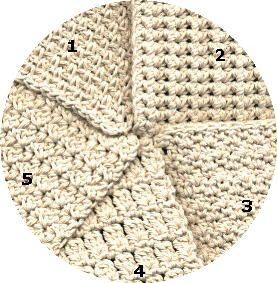 Five Textured Dishcloths