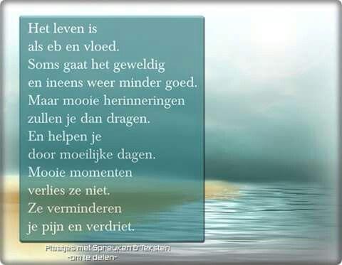 Het leven is als eb en vloed ...