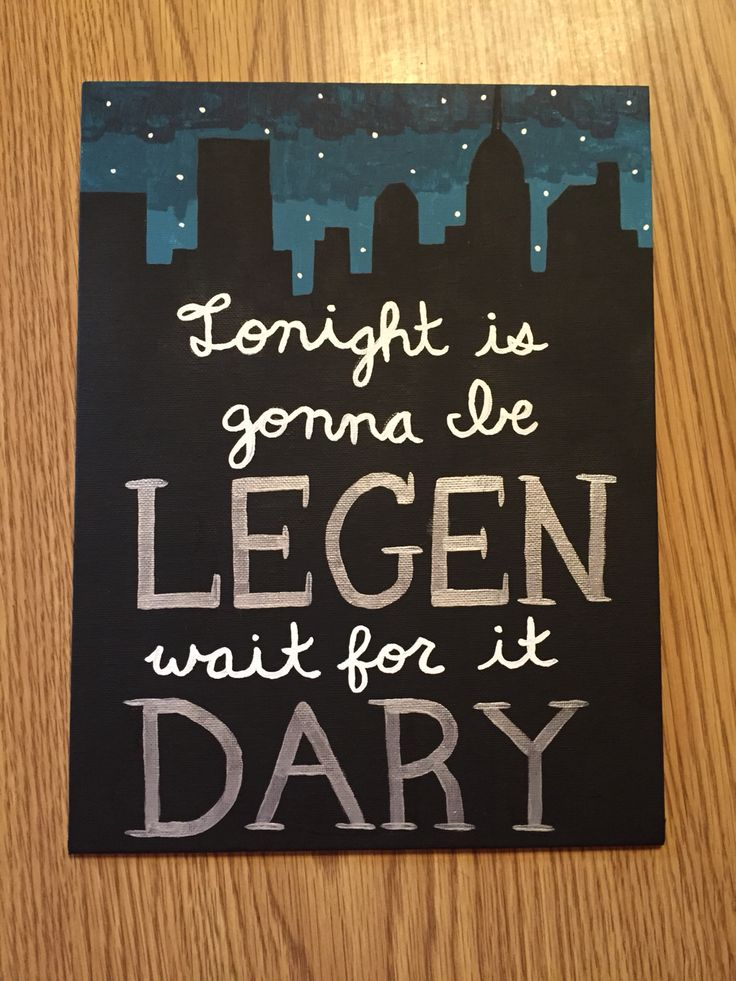 "How I Met Your Mother ""Legen (wait for it) dary"" canvas art painting"