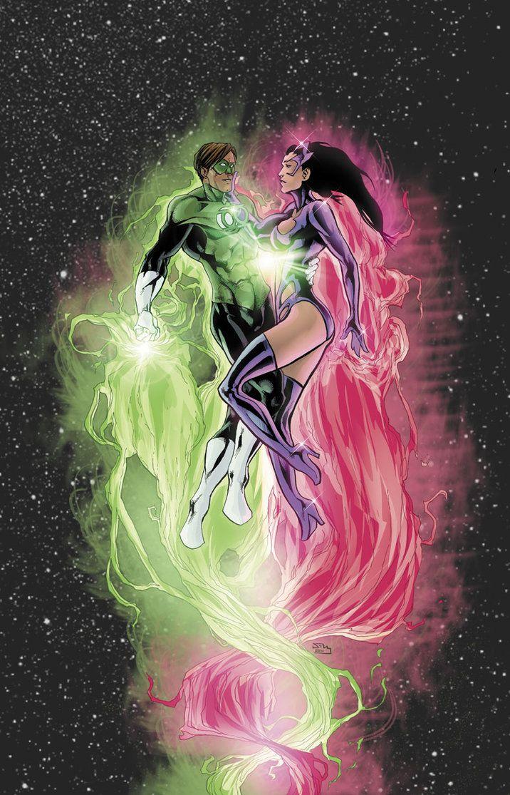 Star Sapphire (Carol Ferris) and Green Lantern