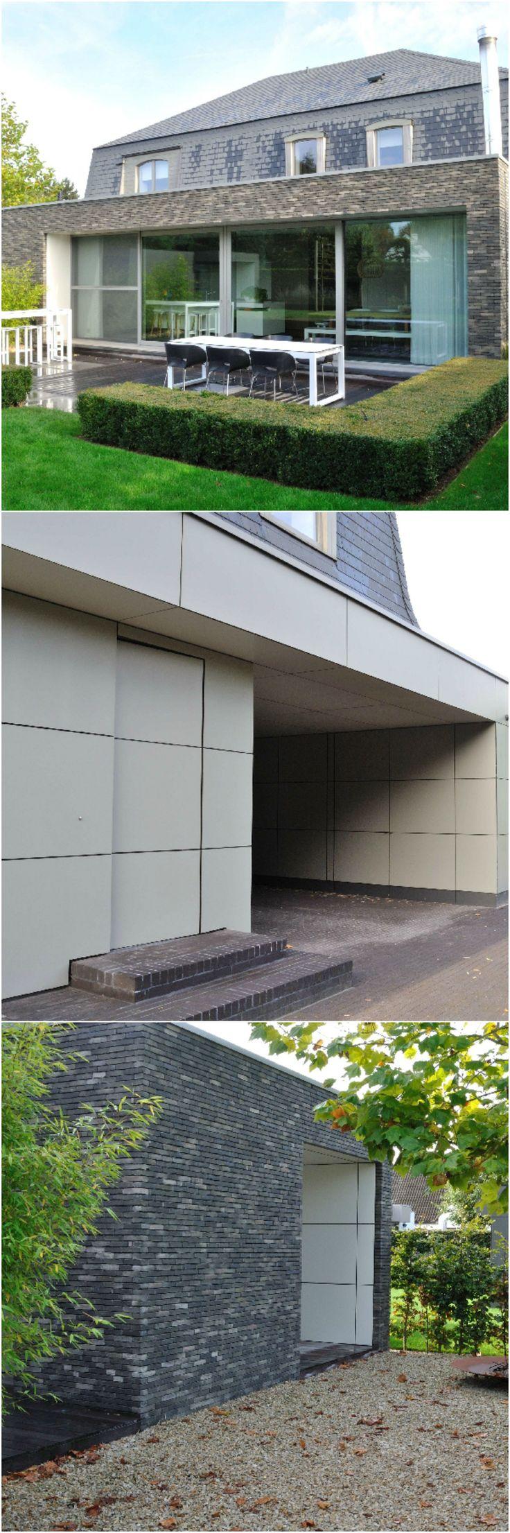 Deze Franse villa is helemaal mee met zijn tijd • Foto: TAIL Architectuur - www.tail.be (renovatie • modern • achterbouw • gevelplaten • gelijmde baksteen • mansardedak • leien)