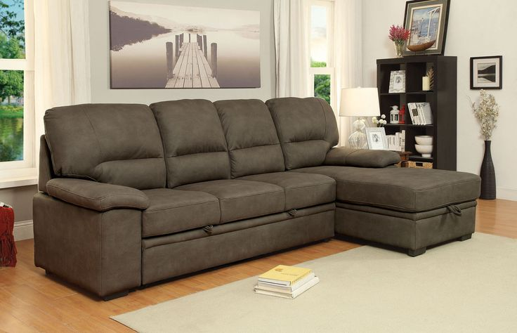 Furniture Of America Alcestar Brown Sectional Sofa - CM6908BR For $634