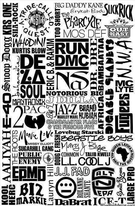 If you know me, you know I love the hip-hop culture. This collage of hip-hop icons represents a genre of music that I hold close to me.