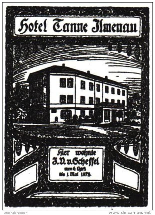 Original-Werbung/ Anzeige 1928 - HOTEL TANNE - ILMENAU - ca. 30 x 40 mm