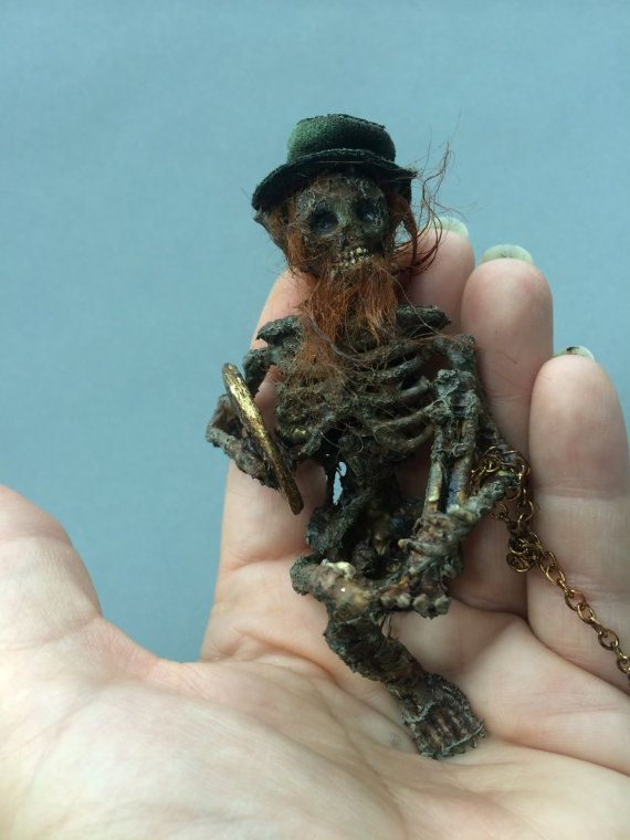 ooak Irish dead LEPRECHAUN Fantasy fairy by footstepsinthewind