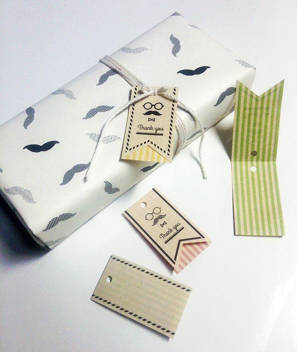 髭眼鏡の「Thank you」タグ by よよこ 文房具・ステーショナリー カード・レター・ラッピング