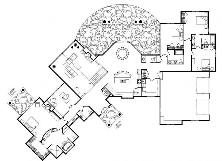 25 best ideas about unique floor plans on pinterest for Unique cabin plans