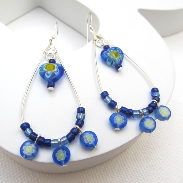 Vibrant blue earrings