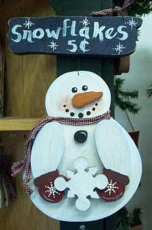 Snowflakes 5 cents.  I just love Snowmen!