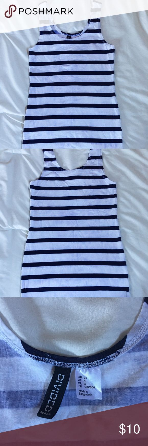 Blue& White Bodycon Dress - Divided by H&M Bodycon mini dress/blue and white Divided Dresses Mini