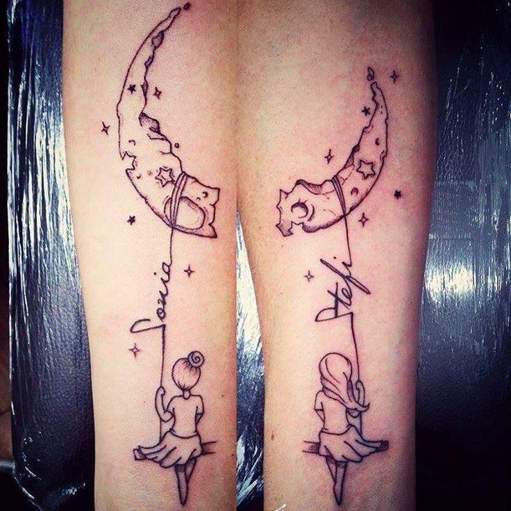 Den Mond und die Sterne teilen: Soul Sister Tattoo beschriften