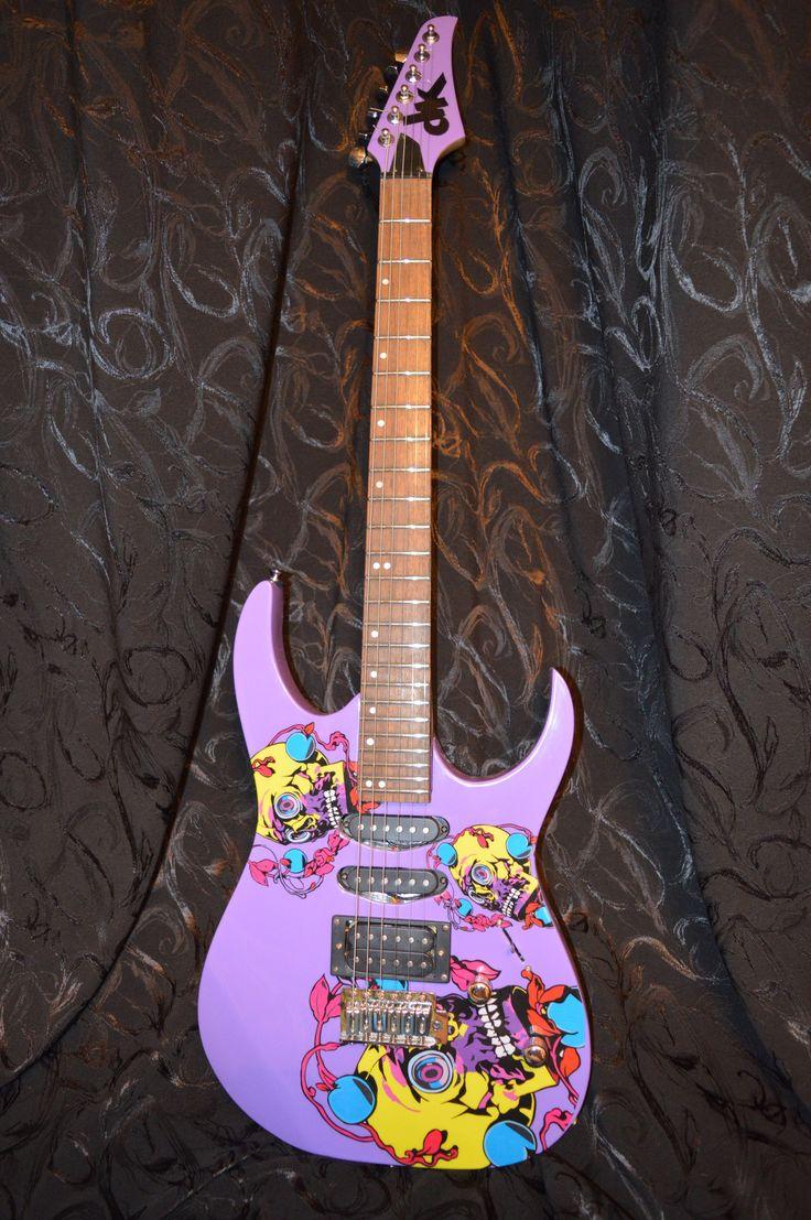 Электрогитара Día de Muertos.  Electric guitar Día de Muertos. Exclusive design. Unique in the world) Электрогитара, гитара, панк, рок, панк-рок, металл, дизайн гитары, эксклюзив, DK, DK Guitar, рисунок на гитаре, принт на гитаре, ручная работа, Electric guitar, guitar, punk, rock, punk rock, metal, guitar design, exclusive, guitar drawing, print on guitar, handmade, Фендер, Гибсон, Стратокастер, Ибанез, Джексон, Кастом, Fender, Gibson, Stratocaster, Ibanez, Jackson, Custom, Custom Shop