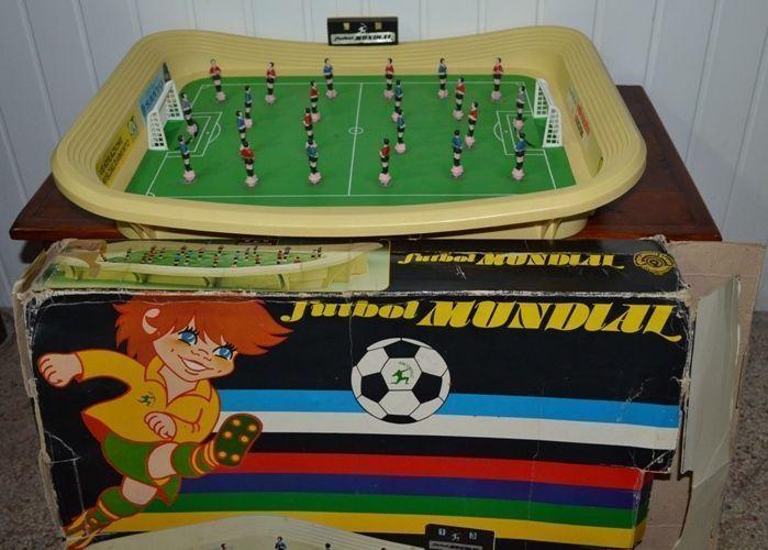 Arcofalc FUTBOL MUNDIAL Calcio Calcetto da tavolo a molla Vintage anni 80