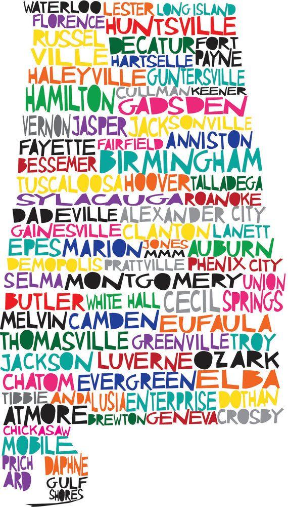 AlabamaMaps Alabama, Southern Alabama, Digital Illustration, Rolls Tide, Things, Places, Sweet Home Alabama, Alabama States, Sweets Home Alabama