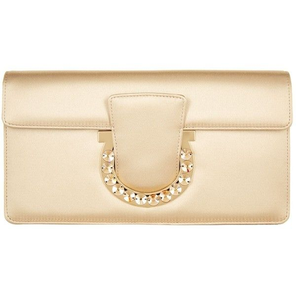 Salvatore Ferragamo Small Thalia Clutch Bag ($880) ❤ liked on Polyvore featuring bags, handbags, clutches, beige purse, beige clutches, salvatore ferragamo, salvatore ferragamo handbags and jeweled handbags