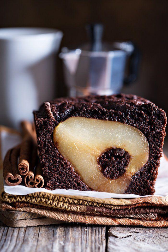 Gâteau minceur au chocolat et à la poire