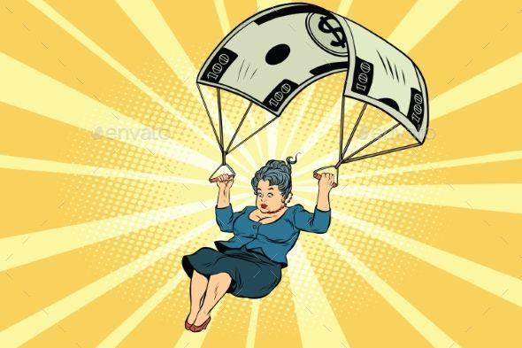 Woman Golden Parachute Financial Compensation